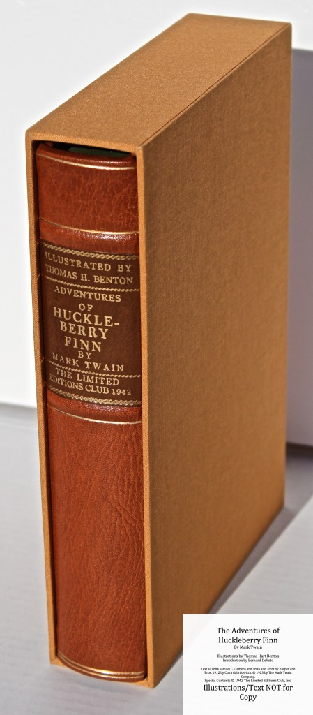 The Adventures of Huckleberry Finn, Limited Editions Club (1942), Book in Slipcase