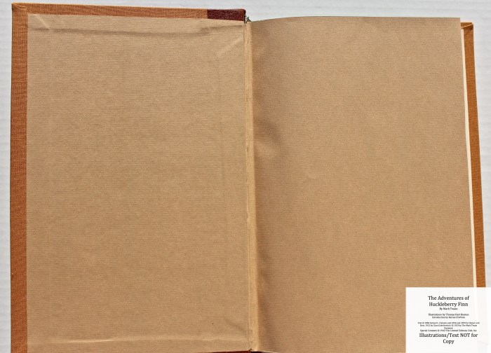 The Adventures of Huckleberry Finn, Limited Editions Club (1942), End Papers