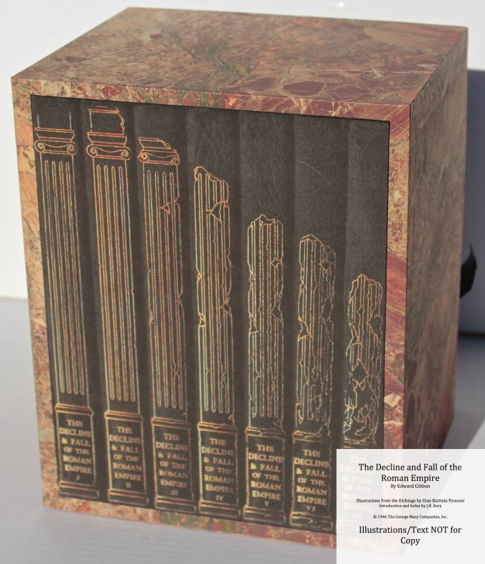 The Decline and Fall of the Roman Empire, Limited Editions Club, Slipcase Spine (Custom)