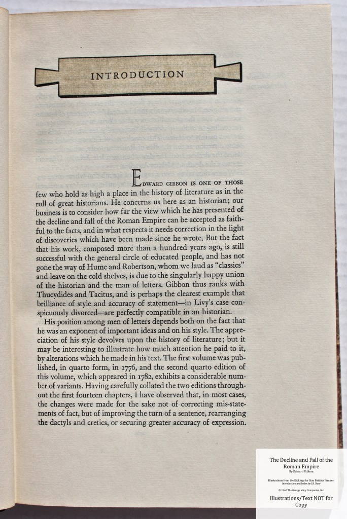 The Decline and Fall of the Roman Empire, Limited Editions Club, Sample Text #2