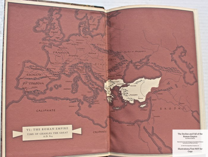 The Decline and Fall of the Roman Empire, Limited Editions Club, End Sheet Map Vol 5