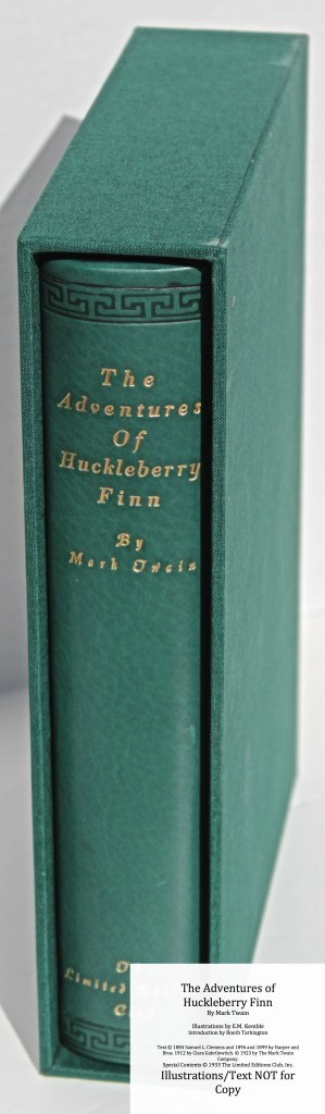 The Adventures of Huckleberry Finn, Limited Editions Club (1933), Re-backed Spine and Slipcase