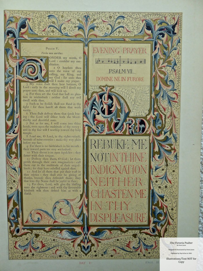 The Victoria Psalter, Day and Son, Sample Page #5