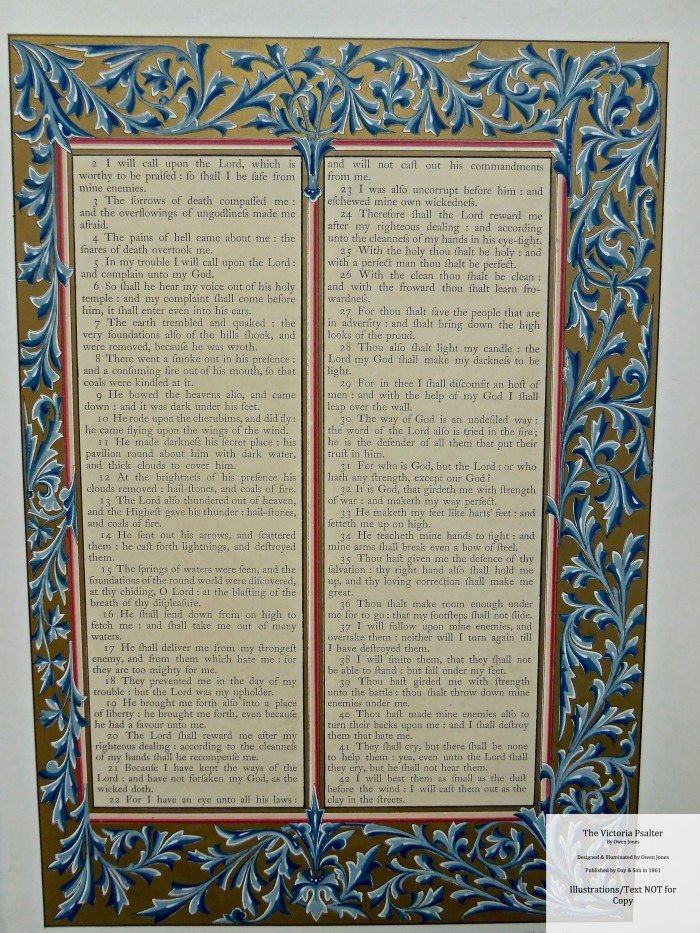 The Victoria Psalter, Day and Son, Sample Page #6