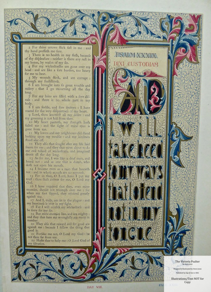 The Victoria Psalter, Day and Son, Sample Page #7