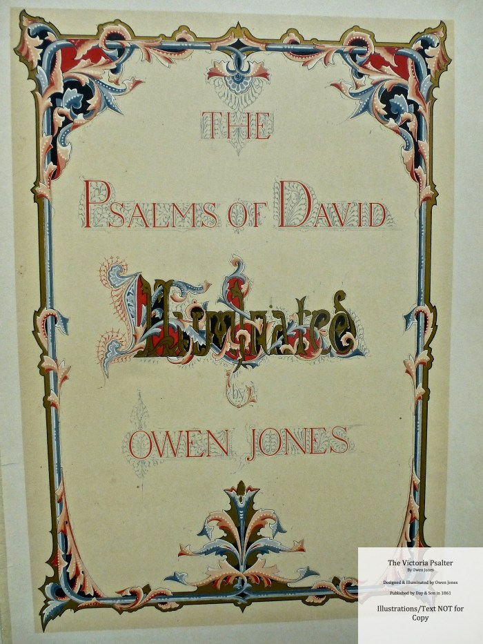 The Victoria Psalter, Day and Son, Title Page