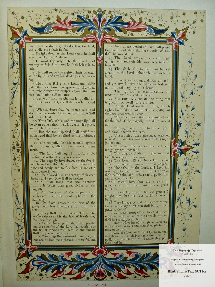 The Victoria Psalter, Day and Son, Sample Page #3