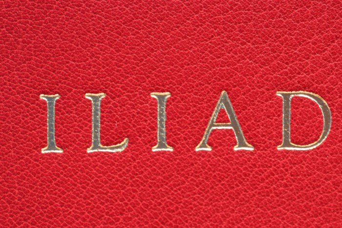 The Iliad, Limited Editions Club, Front Macro of Cover