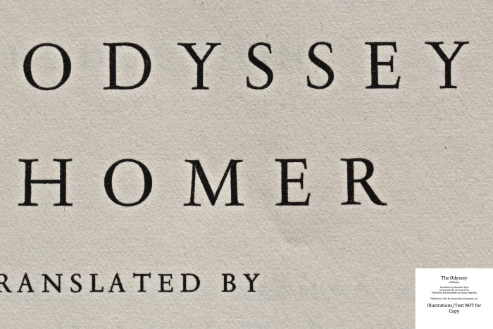 The Odyssey, Limited Editions Club, Macro of Title Page
