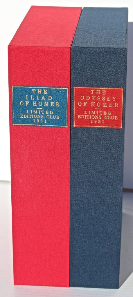 'The Odyssey' and 'The Iliad', Limited Editions Club, Slipcases (custom)