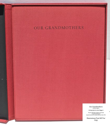 Our Grandmothers, Limited Editions Club, Cover