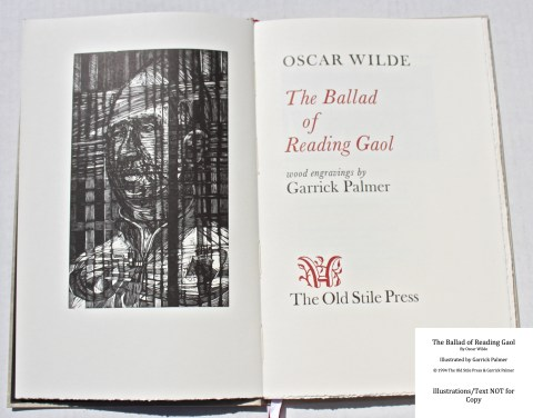 The Ballad of Reading Gaol, The Old Stile Press, Frontispiece and Title Page
