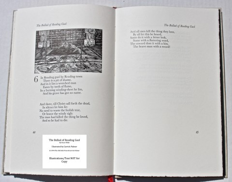 The Ballad of Reading Gaol, The Old Stile Press, Sample Illustration #4 with Text