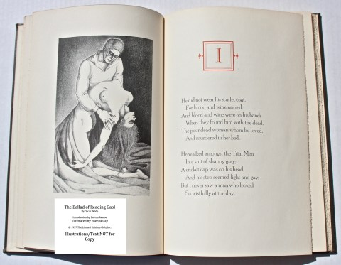 The Ballad of Reading Gaol, The Limited Editions Club, Sample Illustration #1 with Text