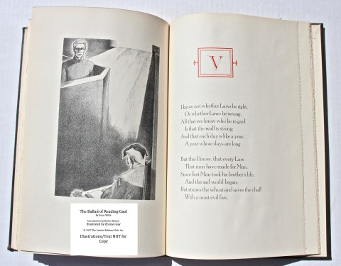 The Ballad of Reading Gaol, The Limited Editions Club, Sample Illustration #4 with Text