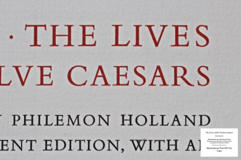 The Lives Of The Twelve Caesars, Limited Editions Club, Macro of Title Page