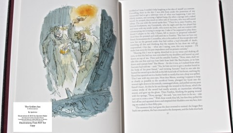 The Golden Ass, The Folio Society, Sample Illustration #1 with Text