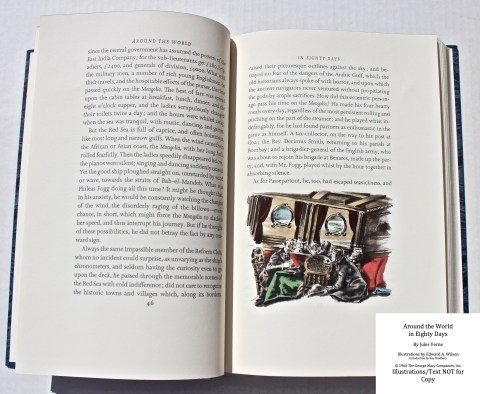 Around the World in Eighty Days, Limited Editions Club, Sample Illustration #3 with Text