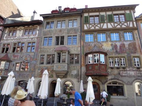 Photo 3: Buildings with painted frescoes, Stein am Rhein