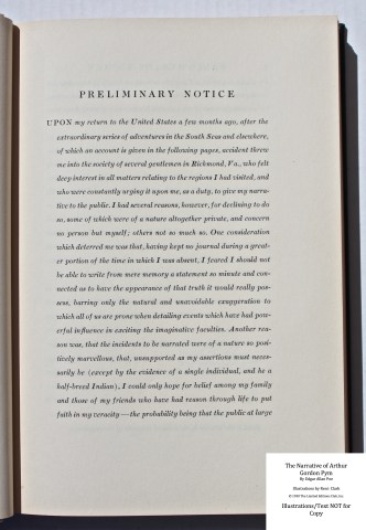 The Narrative of Arthur Gordon Pym, Limited Editions Club, Sample Text #3