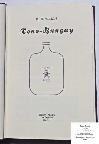 Tono-Bongay, Arion Press, Title Page