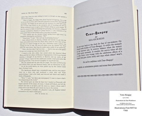 Tono-Bongay, Arion Press, Sample Advertisement #4 with Text