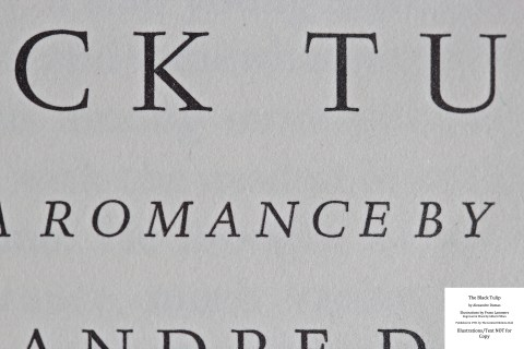 The Black Tulip, Limited Editions Club, Macro of Title Page