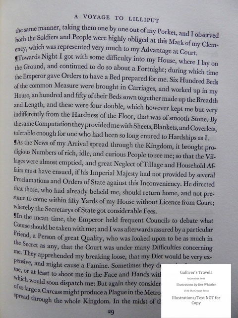 Gulliver's Travels, Cresset Press, Sample Text #1