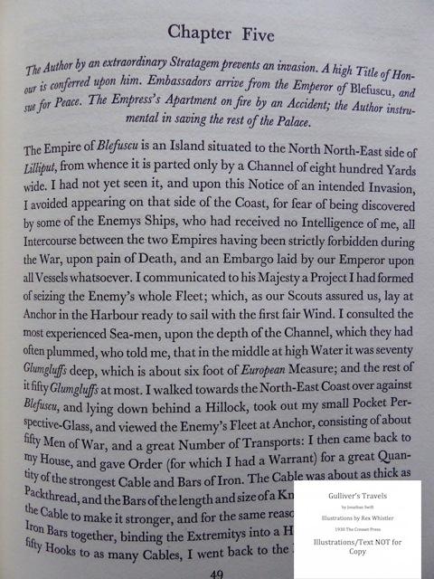 Gulliver's Travels, Cresset Press, Sample Text #2