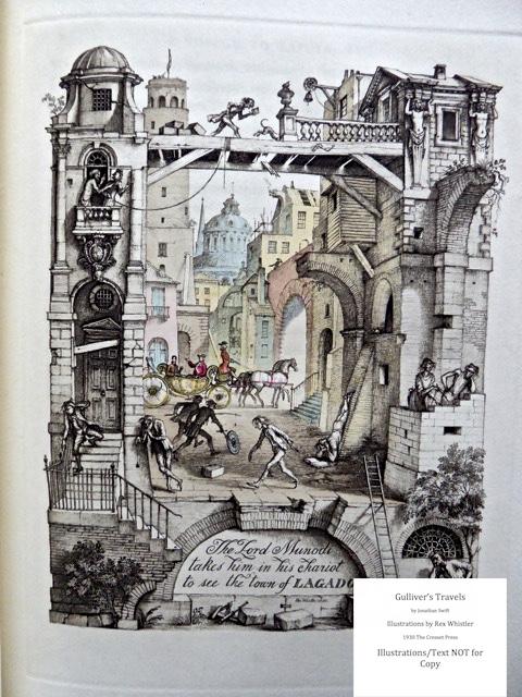 Gulliver's Travels, Cresset Press, Sample Illustration #9