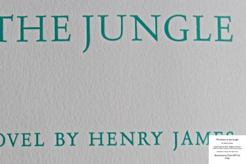 The Beast in the Jungle, Allen Press, Macro of Title Page