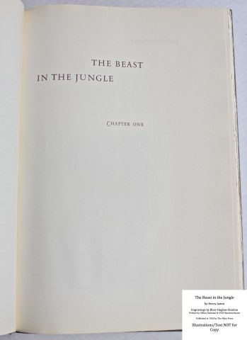 The Beast in the Jungle, Allen Press, Section Title