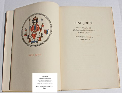 King John, Limited Editions Club, Frontispiece and Title Page