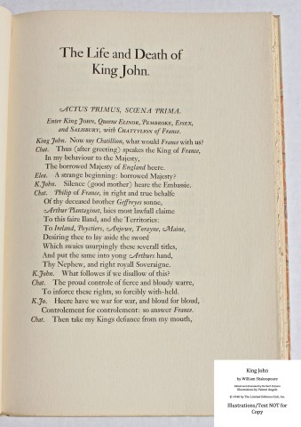 King John, Limited Editions Club, Sample Text #1