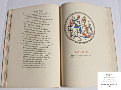 King John, Limited Editions Club, Sample Illustration #5 with Text