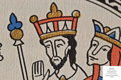 King John, Limited Editions Club, Macro of Sample Illustration #1
