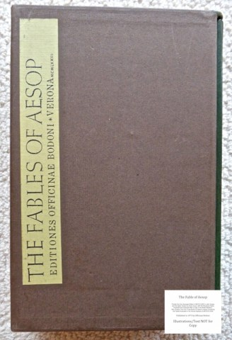 The Fables of Aesop, Officina Bodoni, Slipcase