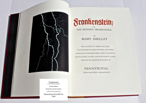 Frankenstein, Pennyroyal Press, Edition Title Page