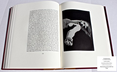 Frankenstein, Pennyroyal Press, Sample Illustration #12 with Text