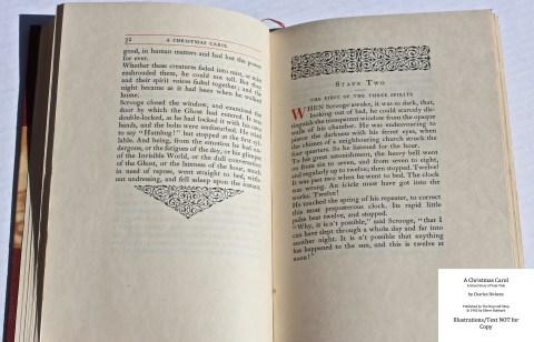 A Christmas Carol, The Roycroft Shop, Sample Text #4 with Decoration