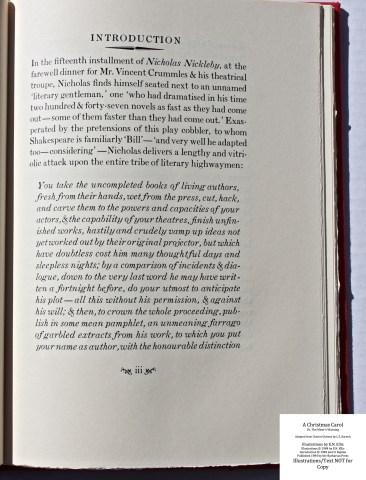A Christmas Carol, Barbarian Press, Sample Text #1