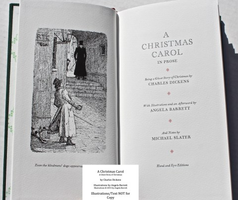 A Christmas Carol, Hand & Eye Editions, Frontispiece and Title Page