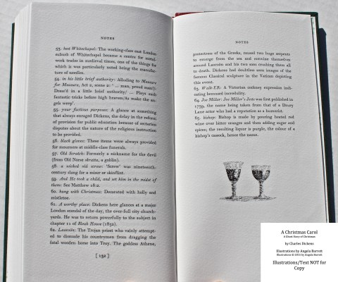 A Christmas Carol, Hand & Eye Editions, Notes with Decoration