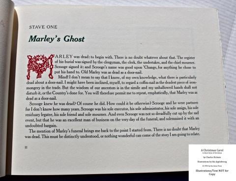 A Christmas Carol, Arion Press, Sample Text #3