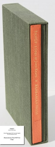 Fancy: 8 Odes of John Keats, Barbarian Press, Book in Slipcase (Deluxe)