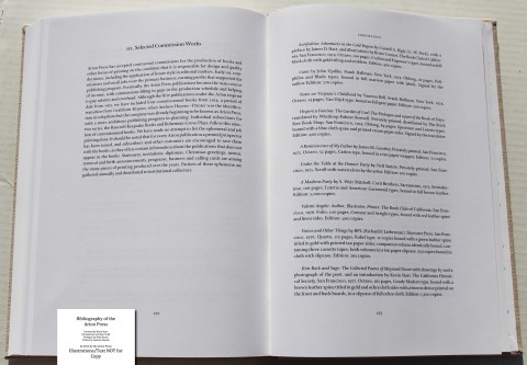 Bibliography of the Arion Press, Arion Press, Sample Text #8