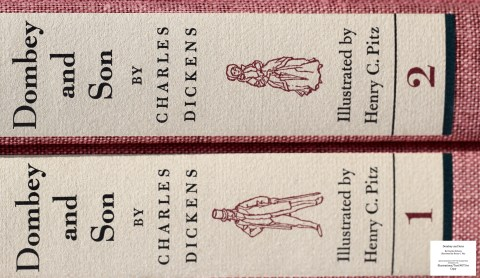 Dombey and Son, Limited Editions Club, Macro of Spines