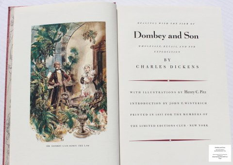 Dombey and Son, Limited Editions Club, Frontispiece and Title Page