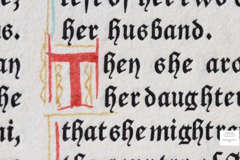 The Book of Ruth, Grabhorn Press, Sample Text Macro