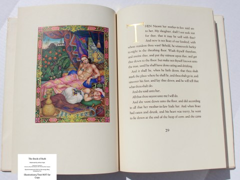 The Book of Ruth, Limited Editions Club, Sample Illustration #3 with Text